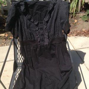 Pin up wiggle dress plus size polka dot